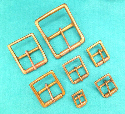 £4.90 • Buy ANTIQUE Solid Brass Miltary Roller Belt Buckle Leather Craft  1/2  - 2