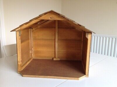 £25 • Buy Hand Crafted Wooden Nativity Set Stable