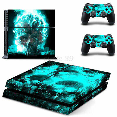 AU19.17 • Buy NEW AU Skull Sticker Cover Wrap Skin Decal For PS4   4 Console Controller