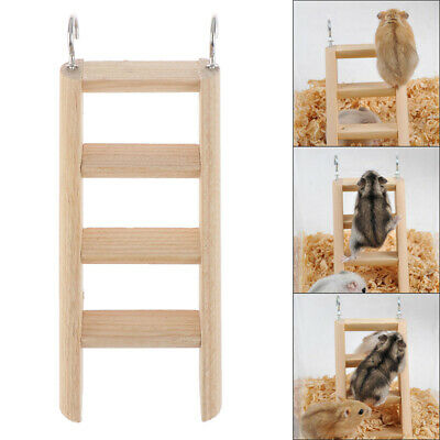 £3.39 • Buy 1PC Hamster Ladder Stand Wooden Climbing Toy Solid Playing Accessories Prod S❤