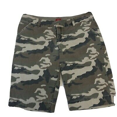 £14.62 • Buy Mossimo Juniors Camo Shorts Size 15 100% Cotton Low Rise Green Brown Misses