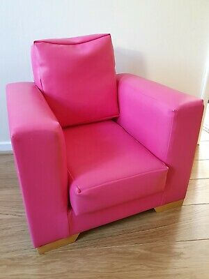 £22 • Buy Pink Child's Armchair, Faux Leather