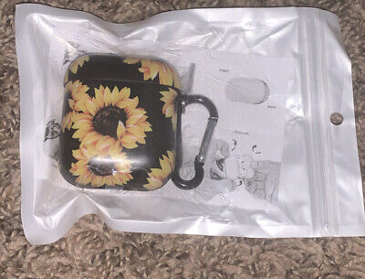 $ CDN14.52 • Buy Airpods Case Airpods Protective Hard Sunflower Floral Case Cover With Keychain