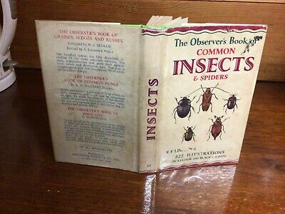 £9.99 • Buy Observers Book Of Common Insects & Spiders 1966: