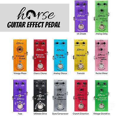 $ CDN27.75 • Buy Horse Guitar Effect Pedal Mini Single Type DC 9V True Bypass For Electric Parts