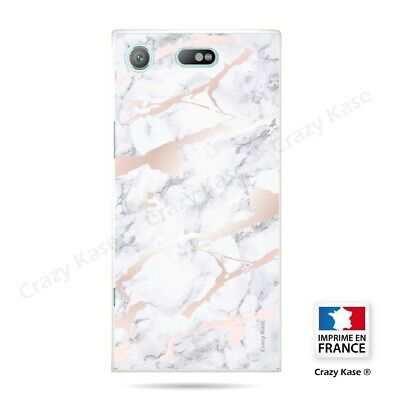 AU17.84 • Buy Cover For Sony Xperia XZ1 Compact Flexible Effect Marble Pink