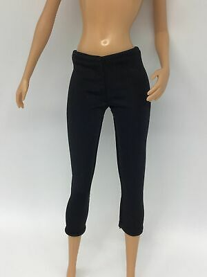 £3.95 • Buy Barbie Doll Clothes - Cropped Black Stretchy Leggings