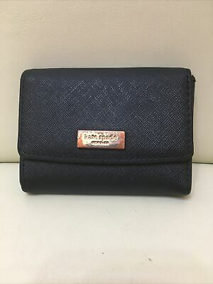 £9.99 • Buy Kate Spade Ladies Small Black Leather Purse/ Pouch