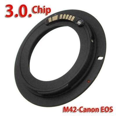 $4.41 • Buy M42 Chips Lens Adapter Ring For AF Confirm To Canon EF Z8N8 EOS Camera G5Z4