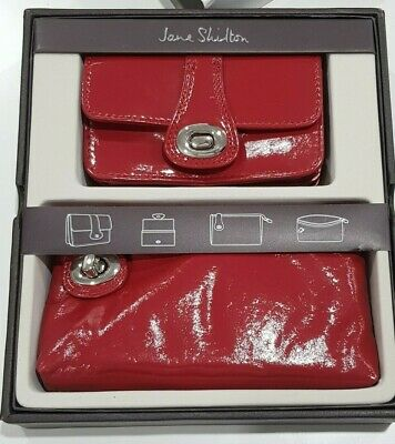 £14.99 • Buy Jane Shilton Leather Purse And Bag Gift Box Set RED NEW Designer Ideal Present