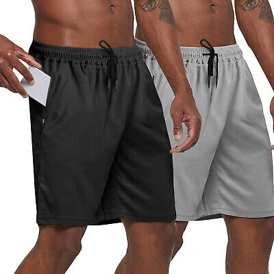 $12.98 • Buy Men Casual Shorts Basketball Loose Sports Gym Fitness Mesh Pants Workout Summer