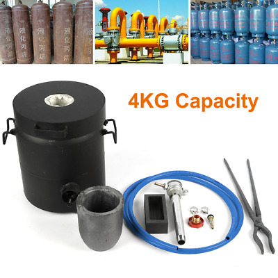 £172.01 • Buy 4KG Propane Melting Furnace Gas Metal Copper Jewellery Smelter W/ Crucible