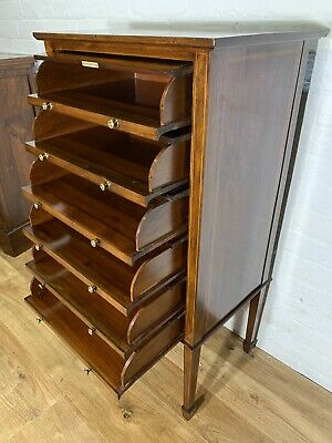 £345 • Buy Antique Edwardian Mahogany Inlaid Music Storage Cabinet Delivery Available