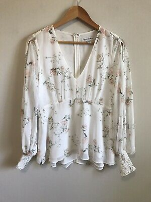 AU35 • Buy Forever New - Split Sleeve Floral Blouse - Size 10