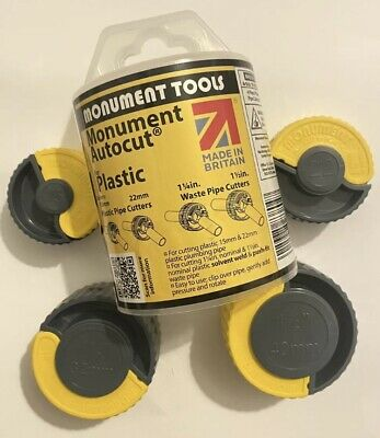 Monument Autocut For Plastic Pipe Cutters Set  15mm 22mm 1.25  1.5  Plumbing • 25£