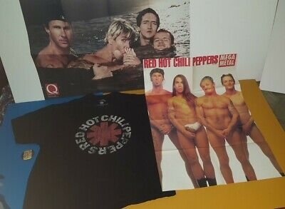 $65 • Buy Red Hot Chili Peppers Xl T Shirt  2 Foldout Poster's & 2 Concert Button 's