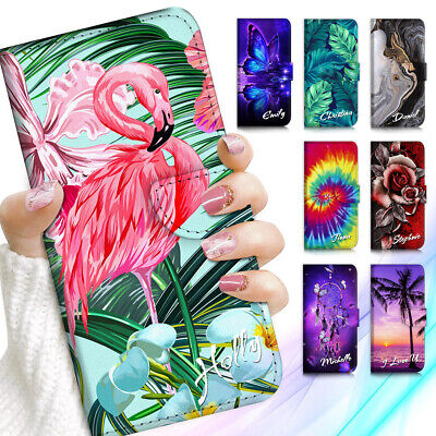 AU13.99 • Buy Personalised Name Wallet Case Cover For Oppo A54 A15 A52 Reno 4 Z A53 Find X3 X2