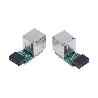 AU2.79 • Buy Internal Motherboard 9pin To 2port USB2.0 A Female Adapter Converter PCB Boar*P1