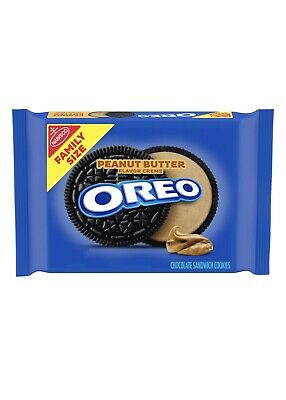 NEW NABISCO FAMILY SIZE OREO PEANUT BUTTER CREME SANDWICH COOKIES 17OZ 482g PACK • 5.94£