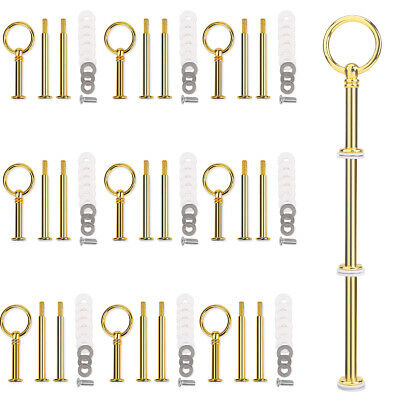 £10.59 • Buy 10 Set Gold Cake Plate Stand Crown Handle Fitting Rod Wedding Party Display