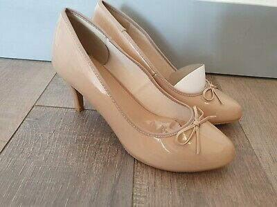 EVANS Heeled Court Shoes-Nude Size UK9EEE • 3.20£