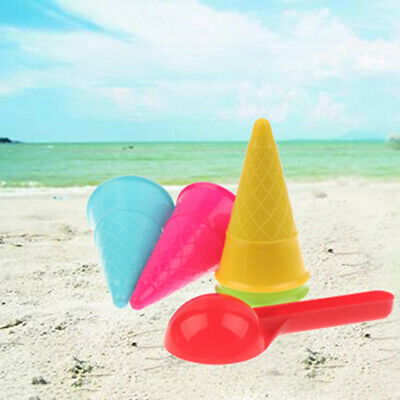 £5.04 • Buy 5 Pcs/lot Cute Ice Cream Cone Scoop Sets Beach Toys Sand Kids Chil N8A9