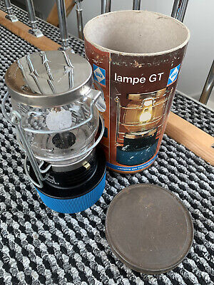 Vintage Camping Hiking Classic Gaz Lampe GT Gas Lantern Storage Tin Mantle Light • 15£