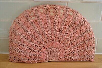 £25 • Buy VINTAGE 1920s Pink Crochet And Ribbon Tea Cosy