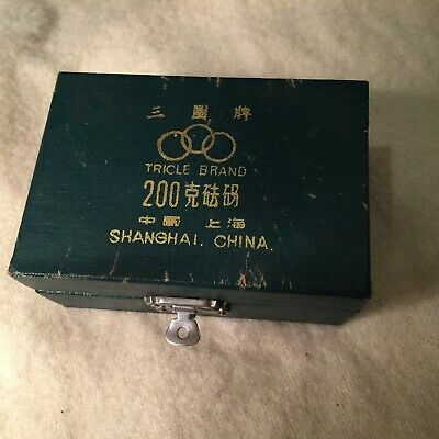 £9 • Buy Vintage 1950's Scale Calibration Weight Set TRICLE Shanghai China 200