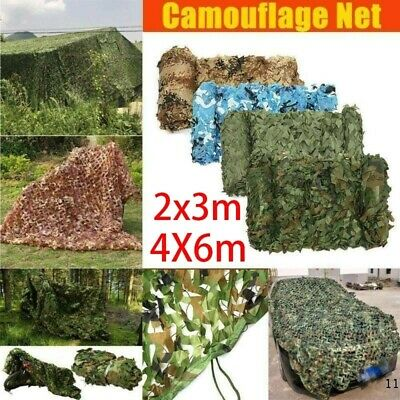 £5.99 • Buy 4mX6m Camo Net Hunting/Shooting Camouflage Hide Army Camping Woodland Netting UK
