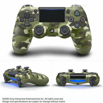 AU72.22 • Buy Sony PS4 DualShock 4 V2 Wireless Controller Official - Green Camo