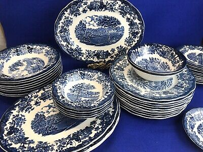 £1.50 • Buy Royal Worcester Palissy Avon Scenes Blue & White Ironstone China Assorted Items