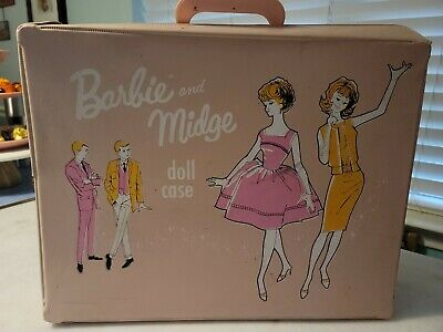 $ CDN72.55 • Buy Vintage Mattel Barbie Doll Accessories - Pink Barbie & Midge Doll Case 1963