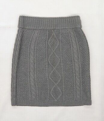 £5 • Buy Primark Womens Grey  Knit Mini Skirt Size 6  - Cable Knit