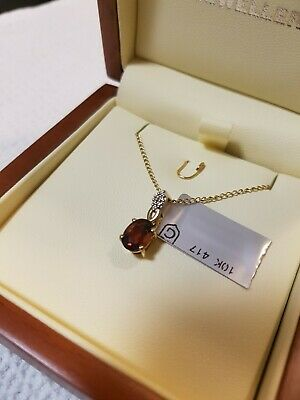 £43.50 • Buy Madeira Citrine And White Zircon Pendant 1cts In 10k Gold  From Gems Tv