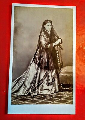 Carte De Visite Of A Spanish Lady In Victorian Times. 1870s.  • 3.50£