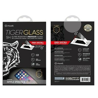 AU44.50 • Buy Muvit Film For IPHONE X Toughened Glass Screen Protector Curved With Applicator