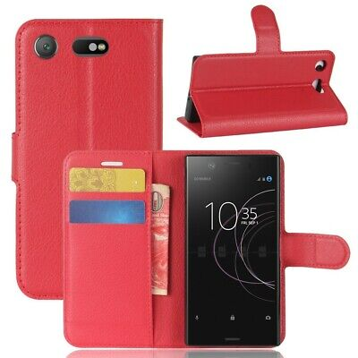AU24.39 • Buy Case For Sony Xperia XZ1 Compact Card Holder Red