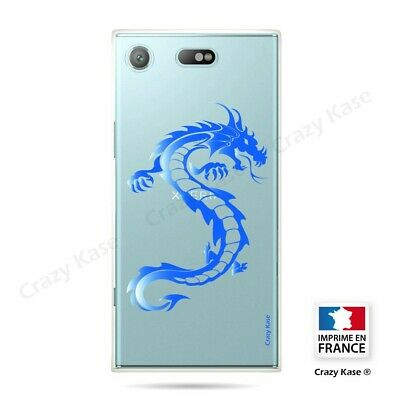 AU14.15 • Buy Cover For Sony Xperia XZ1 Compact Flexible Dragon Blue
