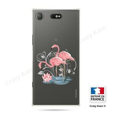 AU14.15 • Buy Cover For Sony Xperia XZ1 Compact Flexible Flamingo Pink
