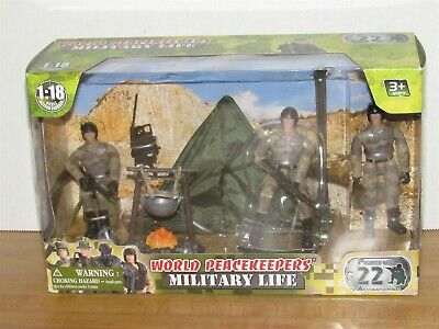 $21.99 • Buy World Peacekeepers 1:18 Scale Military Life Camp Site Playset MISB MIB New A