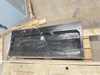 £1250 • Buy Black Marble Wash Basin Single Stone Carved - 455x 1200 X 100mm - NEW