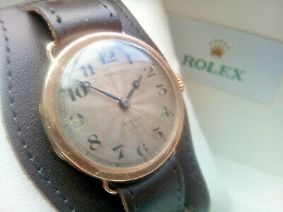 AU912.34 • Buy Beautiful Rare All Original Gents 1927 Solid Gold Rolex Presentation Watch & Box