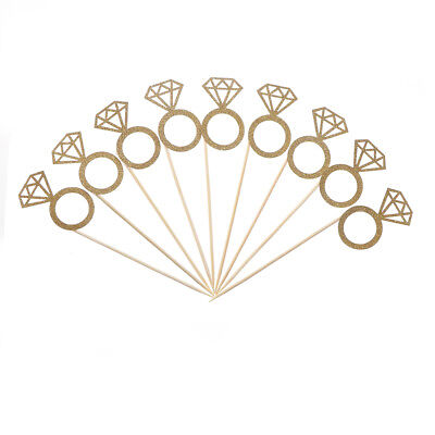 £2.24 • Buy 10x Diamond Ring Cupcake Toppers Engagement Wedding Party Table Decorations N8A9