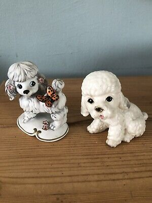 £20 • Buy 2x Adorable Poodle Vintage Figurines/collectable Pups/Cute Dogs Ornaments