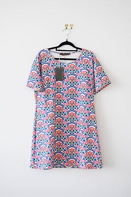 AU15 • Buy Curve Plus Size ASOS Pink Clove Floral Shift Dress Size 18 - BNWT