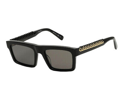 £140 • Buy Stella McCartney Black Sunglasses With Gold Chain Detail
