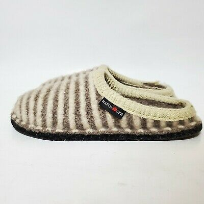 £15.90 • Buy Haflinger Cathy Wool Slipper Womens 38 7 Natural Off White Beige Striped Flair