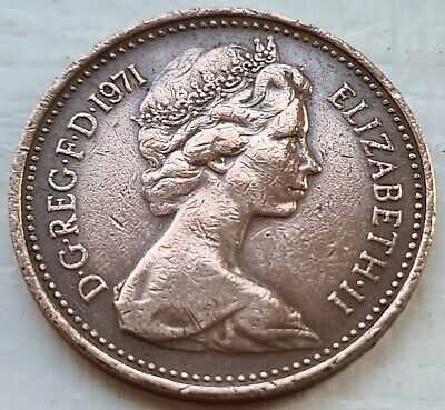 £1.99 • Buy VERY RARE 1p One Pence Coin Minted With The New Penny Wording 1971 Highly Sought