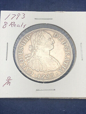 AU92.15 • Buy 8 Reales 1793 Mexico F M Charles IIII Silver Coin